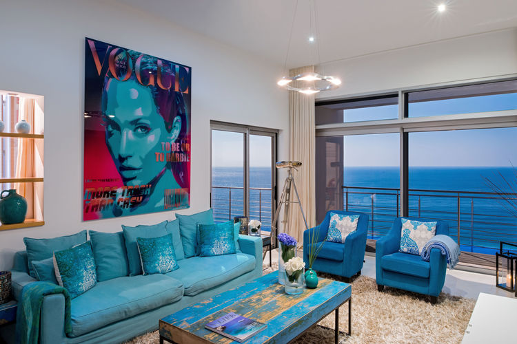 Living area and view