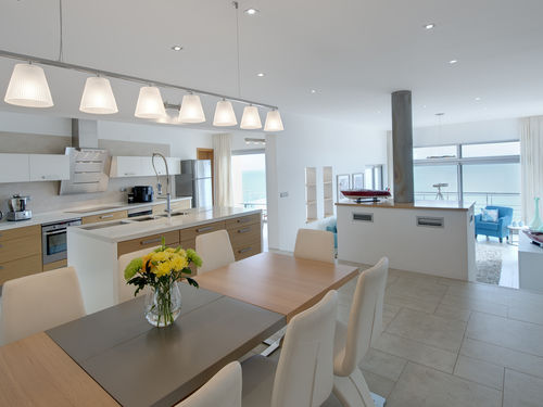 Kitchen and interior dining table